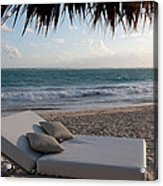Ready To Relax On A Tropical Beach Acrylic Print by Karen Lee Ensley