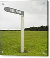 Reception Sign Acrylic Print by Dave & Les Jacobs