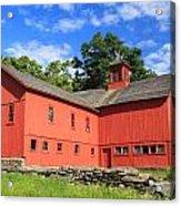 Red Barn At Bryant Homestead Acrylic Print by John Burk