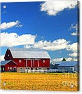 Red Barn Acrylic Print by Elena Elisseeva