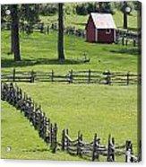 Red Barn On Highway 160 Near Pagosa Acrylic Print by Rich Reid