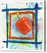 Red Bell Pepper Acrylic Print by Igor Kislev