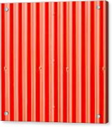 Red Corrugated Metal Acrylic Print by Tom Gowanlock
