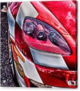 Red Corvette Acrylic Print by Lauri Novak