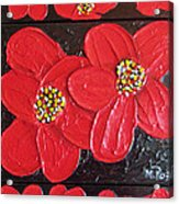 Red Flowers Acrylic Print by Merlene Pozzi