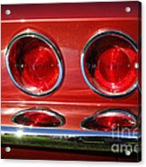 Red Hot Vette Acrylic Print by Luke Moore