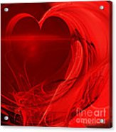Red Love . Square . A120423.279 Acrylic Print by Wingsdomain Art and Photography