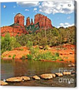 Red Rock Crossing Acrylic Print by Clare VanderVeen