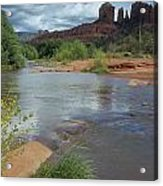 Red Rock Crossing In Sedona, Arizona Acrylic Print by David Edwards