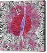 Red Tutu Acrylic Print by Cynthia Sorensen