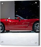 Red Vette Acrylic Print by Alan Look