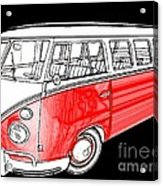Red Volkswagen Acrylic Print by Cheryl Young