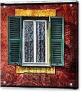 Red Wall Acrylic Print by Mauro Celotti