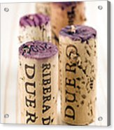 Red Wine Corks From Ribera Del Duero Acrylic Print by Frank Tschakert