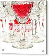 Red Wine Glass Acrylic Print by Parinya Kraivuttinun