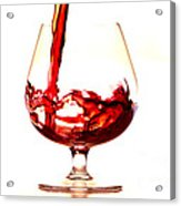 Red Wine Acrylic Print by Michal Boubin