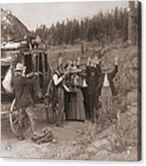 Reenactment Of A Stage Coach Robbery Acrylic Print by Everett