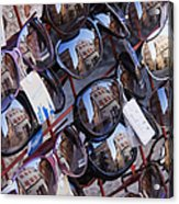 Reflections In Sunglasses Acrylic Print by Jeremy Woodhouse