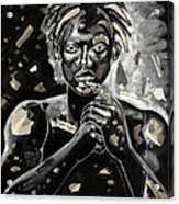 Refugee Evacuee Acrylic Print by Larry Poncho Brown