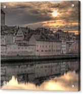Regensburg Cityscape Acrylic Print by Anthony Citro