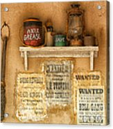 Relics Of The Old West Acrylic Print by Sandra Bronstein