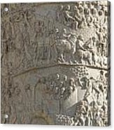Relief. Detail View Of The Trajan Column. Rome Acrylic Print by Bernard Jaubert