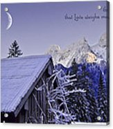 Remember This December Acrylic Print by Sabine Jacobs