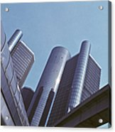Renaissance Center In Detroit Acrylic Print by Will & Deni McIntyre
