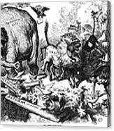 Republican Elephant, 1874 Acrylic Print by Granger