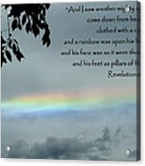 Revelation 10 Rainbow Acrylic Print by Cindy Wright
