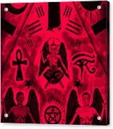 Revelation 666 Acrylic Print by Pierre Louis