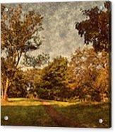 Ridge Walk - Holmdel Park Acrylic Print by Angie Tirado