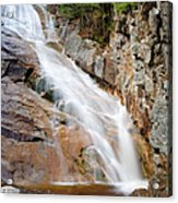 Ripley Falls - Crawford Notch State Park New Hampshire Usa Acrylic Print by Erin Paul Donovan