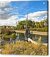 River At Hudson Wy. Acrylic Print by James Steele