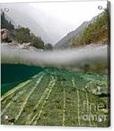 River Surface Acrylic Print by Mats Silvan