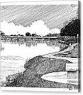 Riverwalk On The Pecos Acrylic Print by Jack Pumphrey