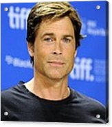 Rob Lowe At The Press Conference Acrylic Print by Everett