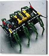 Robot Spider Constructed From Lego Acrylic Print by Volker Steger