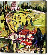 Rocca Maggiore Assisi Italy Acrylic Print by Ginette Callaway