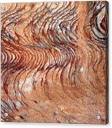 Rock Formation At Petra Jordan Acrylic Print by Eva Kaufman
