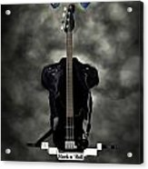 Rock N Roll Crest-the Bassist Acrylic Print by Frederico Borges