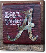 Roll Tide - Small Acrylic Print by Racquel Morgan