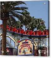 Roller Coaster - 5d17628 Acrylic Print by Wingsdomain Art and Photography