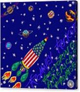 Romney Rocket - Restoring America's Promise Acrylic Print by Robert SORENSEN