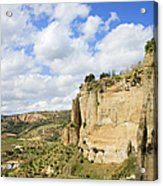 Ronda Cliffs In Andalusia Acrylic Print by Artur Bogacki