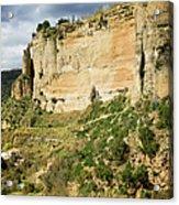 Ronda Rock In Andalusia Acrylic Print by Artur Bogacki
