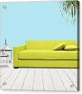 Room With Green Sofa Acrylic Print by Atiketta Sangasaeng