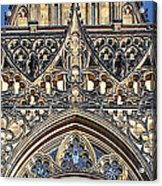 Rose Window - Exterior Of St Vitus Cathedral Prague Castle Acrylic Print by Christine Till
