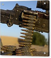 Rounds Of A M240 Machine Gun Acrylic Print by Stocktrek Images