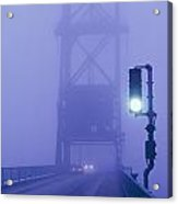 Route 1 Crosses This Drawbridge Acrylic Print by Bruce Dale